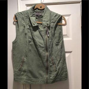 Michael Stars Army Green Vest Size L